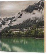 Village By The Lake Wood Print