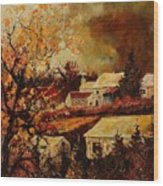 Village Curfoz Wood Print
