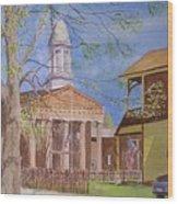 Village Hall- Montour Falls Wood Print