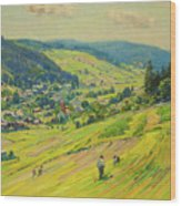 Village In The Foothills Wood Print