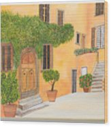 Village In Tuscany N. 4 - Wood Print
