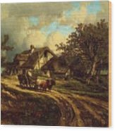 Village Landscape 1844 Wood Print