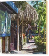 Village Life II - Siesta Key Wood Print
