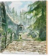 Village Wood Print