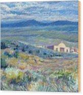 Village Mission Near Taos Wood Print