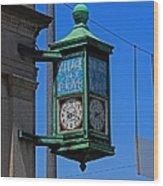 Village Of Elmore Clock-vertical Wood Print