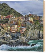 Village Of Manarola - Cinque Terre - Italy Wood Print by JH Photo Service