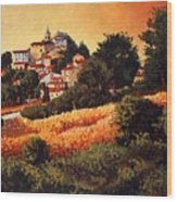Village Of Molise Italy Wood Print