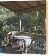 Village Of The Arts - A Patio Wood Print