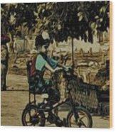 Village Rides Wood Print