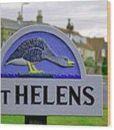 Village Sign - St Helens Wood Print