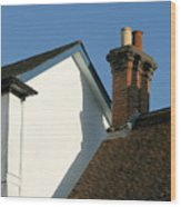 Village Skyline Wood Print