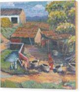 Village Stables Wood Print