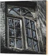 Village Window Wood Print