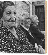 Village Women In Alberca Spain Wood Print