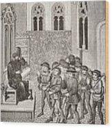 Villains Receiving Their Lord S Orders Wood Print
