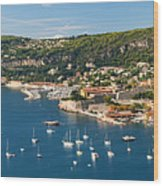Villefranche-sur-mer And Cap De Nice On French Riviera Wood Print