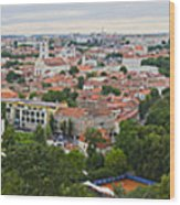Vilnius Panorama From The Hill Of Three Crosses Wood Print