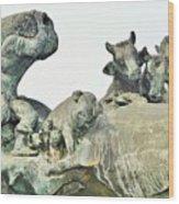 Vilsec Fountain Wood Print