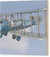 Vimy In Flight Wood Print