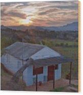 Vinales Sunset Wood Print