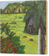Vinales Valley Wood Print