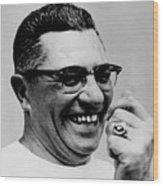 Vince Lombardi 1913-1970, Coach Wood Print by Everett