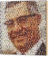 Vince Lombardi Green Bay Packers Mosaic Wood Print