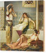 Vincent Stiepevich In The Harem Wood Print
