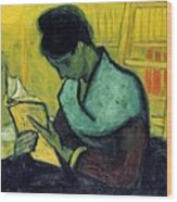 Vincent Van Gogh  A Novel Reader Wood Print