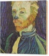 Vincent Van Gogh Cat    Wood Print