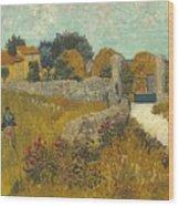 Vincent Van Gogh, Farmhouse In Provence Wood Print