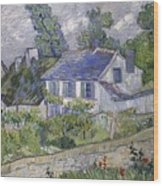 Vincent Van Gogh, Houses At Auvers Wood Print