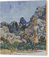 Vincent Van Gogh  Mountains At Saint Remy Wood Print