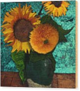 Vincent's Sunflowers 2 Wood Print