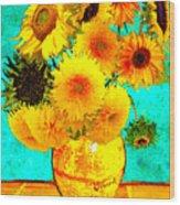 Vincent's Sunflowers 4 Wood Print