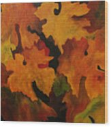 Vine Leaves Wood Print