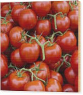 Vine Ripe Tomatos Wood Print by John Trax