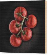 Vine Ripened Tomatoes. Wood Print