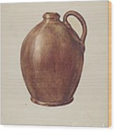 Vinegar Jug Wood Print