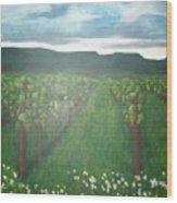 Vineyard Angel Wood Print