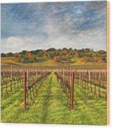 Vineyard Convergence Wood Print
