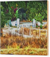 Vineyard Gate Wood Print by Patricia Stalter