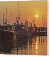 Vineyard Haven Harbor Sunrise II Wood Print