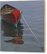 Vineyard Haven Reflection Wood Print