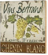 Vineyard Red Wine Sign Wood Print by Grace Pullen