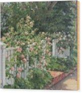Vineyard Roses Wood Print