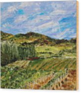 Vineyard Solitude Wood Print