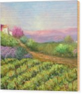 Vineyard Spring Wood Print