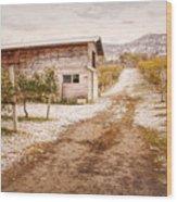 Vineyard Store House Wood Print